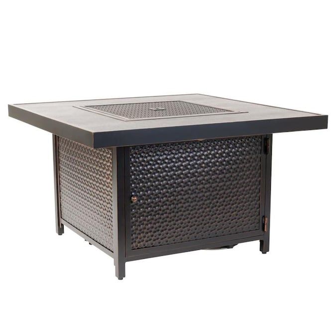 fire sense eyland 40 in 50000 btu antique bronze aluminum propane gas fire table