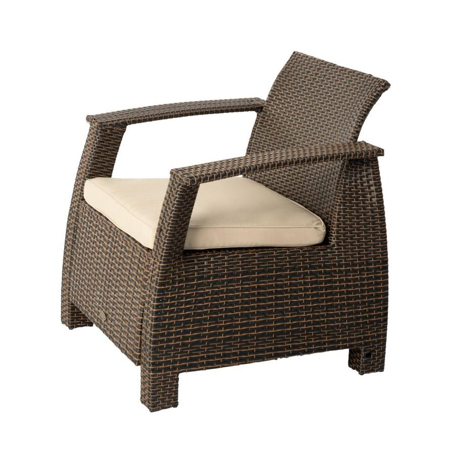 Patio Sense Bondi Deluxe Wicker Armchair In The Patio Chairs Department At Lowes Com
