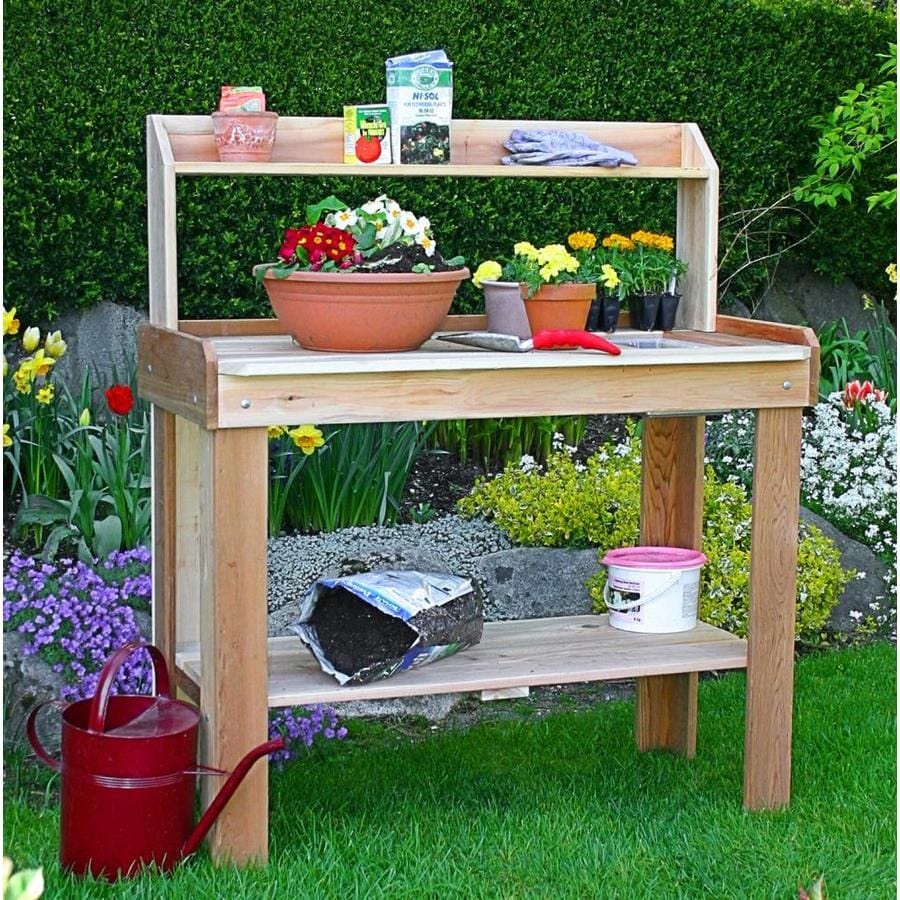 Shop outdoor living today potting bench at Lowes garden bench