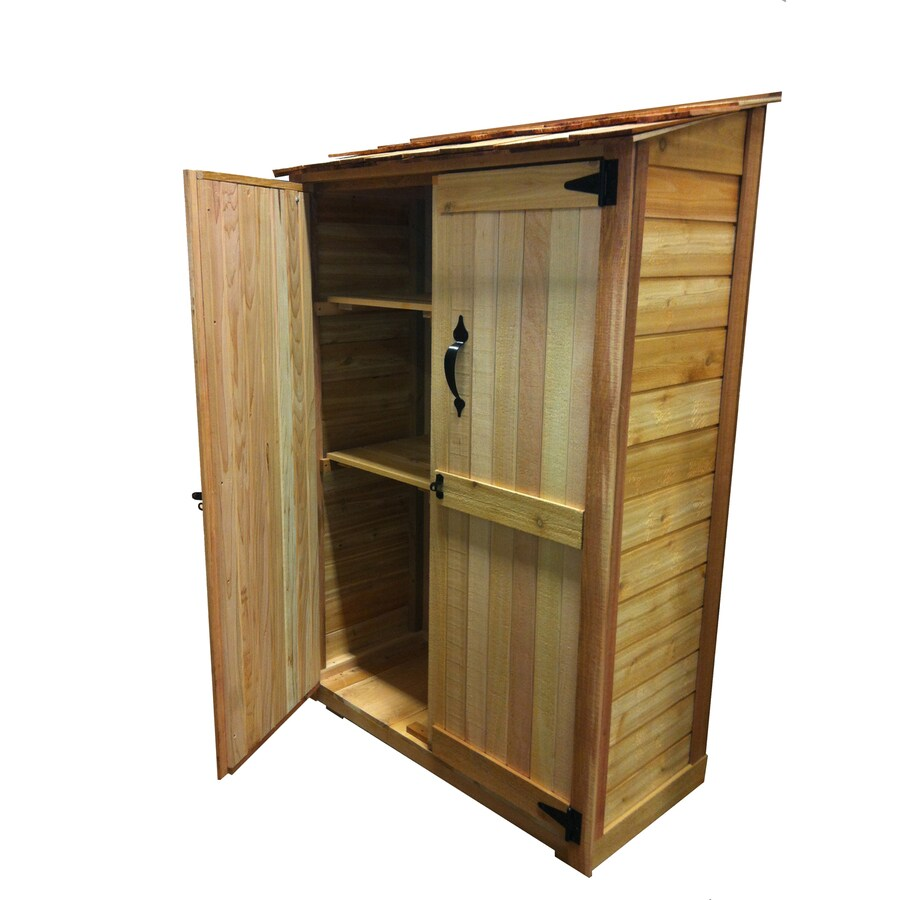 Outdoor Living Today Lean-To Cedar Storage Shed (Common: 4-ft x 2-ft; Interior Dimensions: 3.72-ft x 1.73-ft)