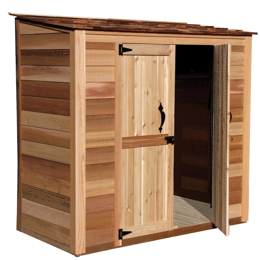 Shop outdoor living today common 6 ft x 3 ft interior for Outdoor wood shed