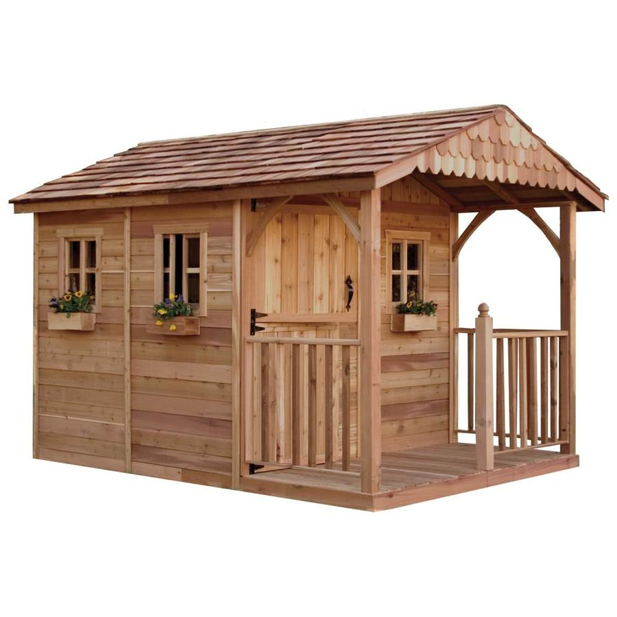 Shop outdoor living today common 8 ft x 12 ft interior for Outdoor wood shed