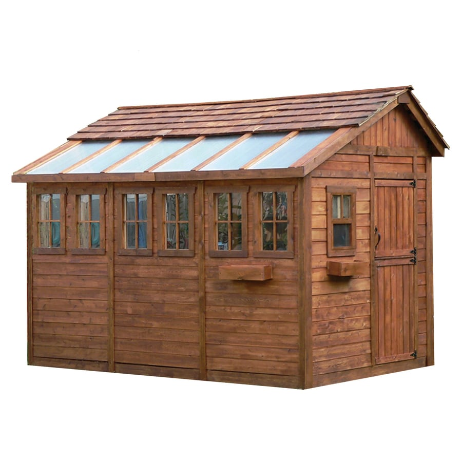 Shop outdoor living today common 8 ft x 12 ft interior for Outdoor garden shed