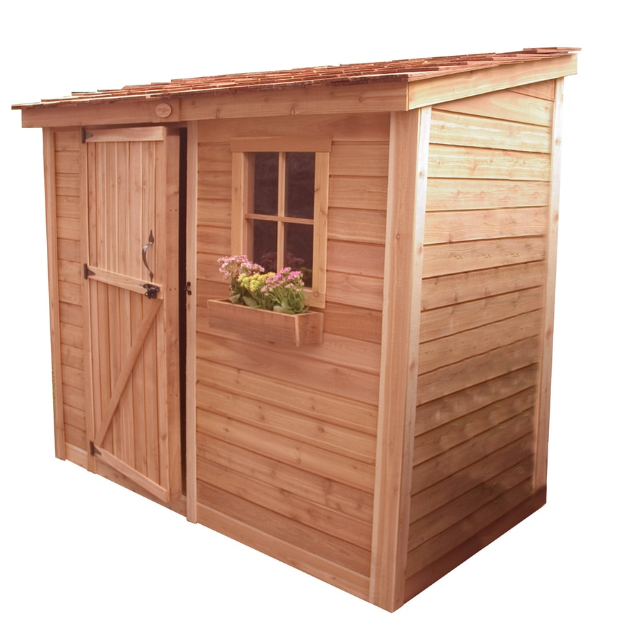 Shop outdoor living today lean to cedar storage shed for Garden shed 4 x 3