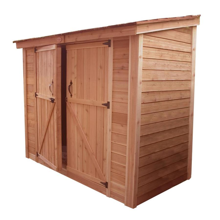 Outdoor Living Today (Common: 8-ft x 4-ft; Interior Dimensions: 7.85-ft x 3.83-ft) Lean-to Cedar Wood Storage Shed (Installation Not Included)
