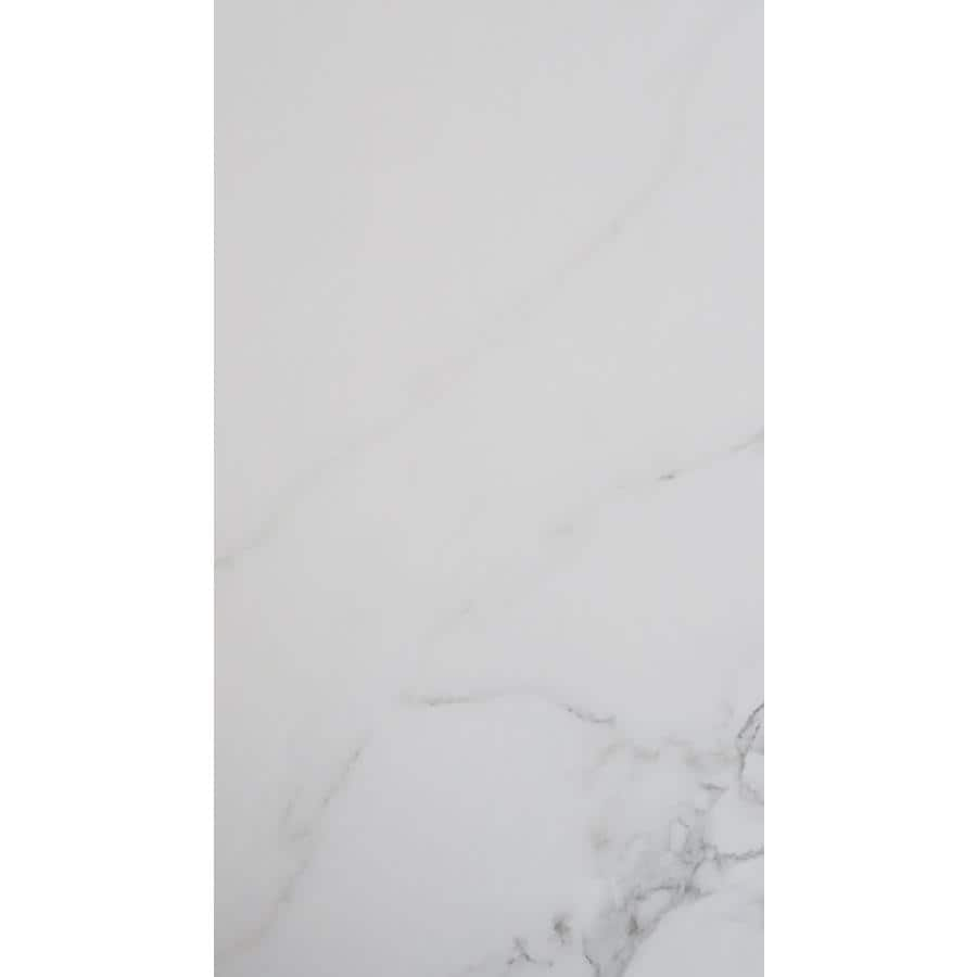 FLOORS 2000 Calacatta 8-Pack White Porcelain Floor and Wall Tile (Common: 12-in x 24-in; Actual: 23.62-in x 11.77-in)