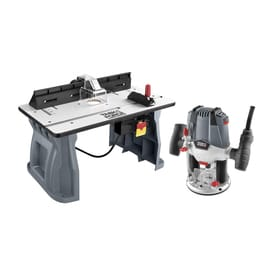 Shop routers at lowes task force variable speed plunge corded router with table included greentooth Choice Image