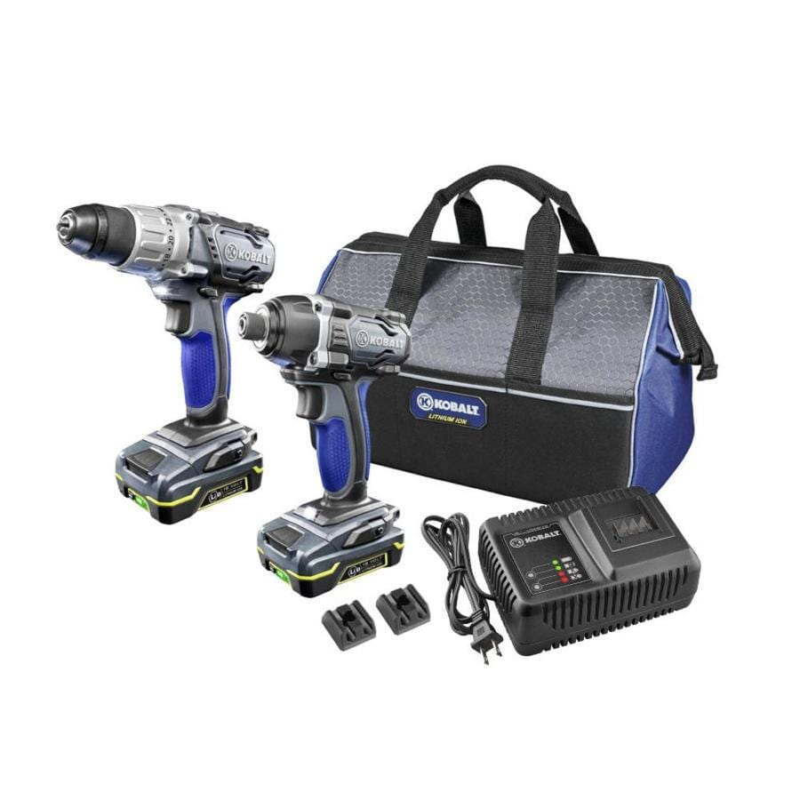 Kobalt 2-Tool 18-Volt Lithium Ion (Li-ion) Brushed Motor Cordless Combo Kit with Soft Case