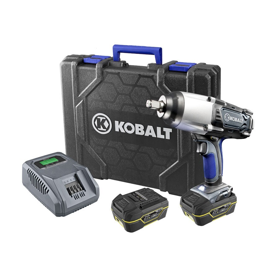 Kobalt 20-Volt 1/2-in Drive Cordless Impact Wrench (2-Batteries) at