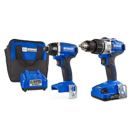 Kobalt 2-Tool 24-Volt Max Brushless Power Tool Combo Kit with Soft Case (Charger Included and 1-Battery Included)