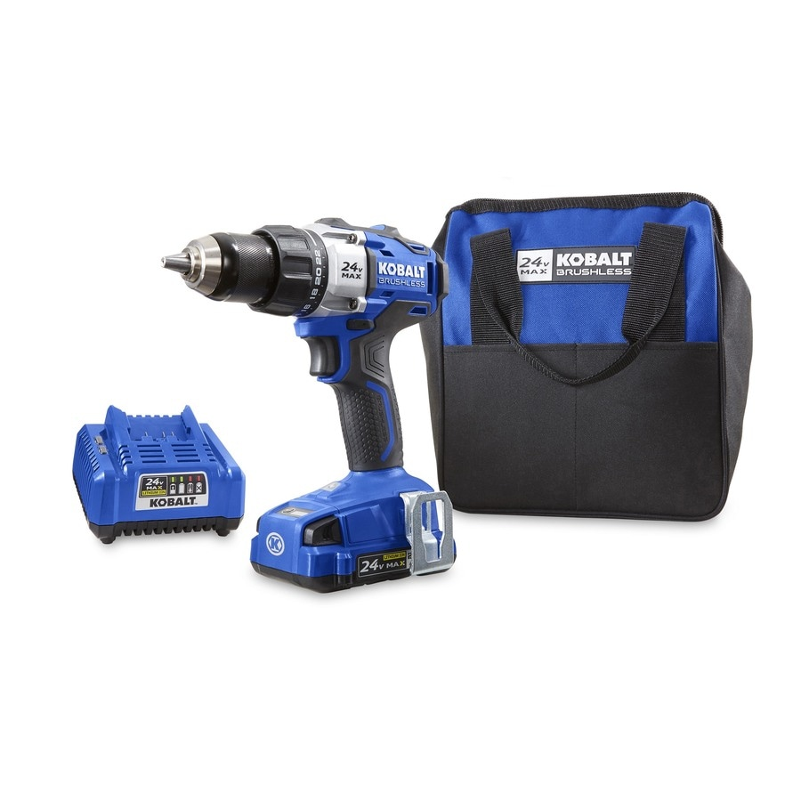 Kobalt 24-Volt Max 1/2-in Brushless Cordless Drill (Charger Included and 1-Battery Included)