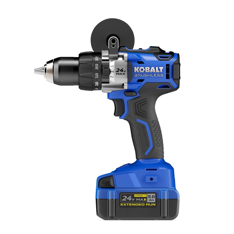 Kobalt 1/2-in 24-Volt Lithium Ion (Li-ion) Variable Speed Brushless Cordless Hammer Drill