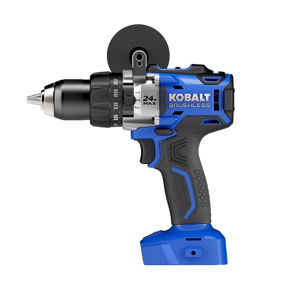 Kobalt 1/2-in 24-Volt Max-Volt Lithium Ion (Li-ion) Variable Speed Brushless Cordless Hammer Drill Bare Tool Only (Tool Only, Battery)