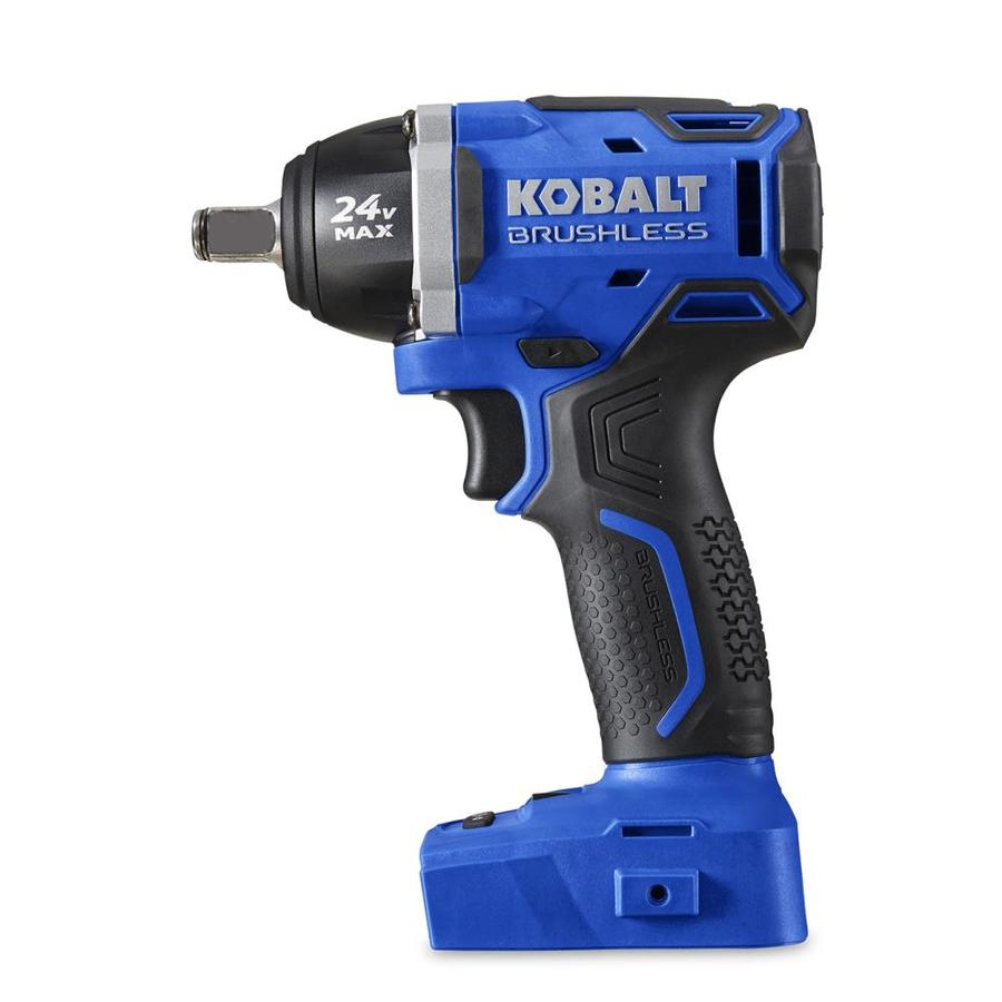 Kobalt 24 Volt Max 1 2 In Drive Brushless Cordless Impact Wrench Battery Not Included