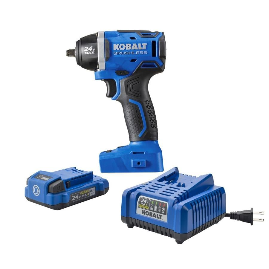 Kobalt 24 Volt Max 1 2 In Drive Cordless Impact Wrench Battery Included