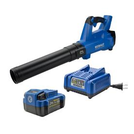 Kobalt 24-Volt Lithium Ion 410-CFM 100-MPH Brushless Cordless Electric Leaf Blower (Battery Included)