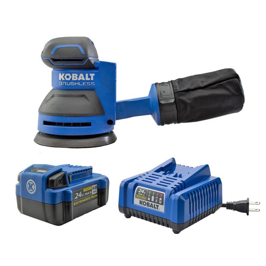 Kobalt 24-Volt Random Orbital Sander Battery Included