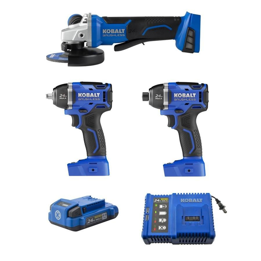 Kobalt 3-Tool 24-Volt Max Lithium Ion Brushless Cordless Combo Kit