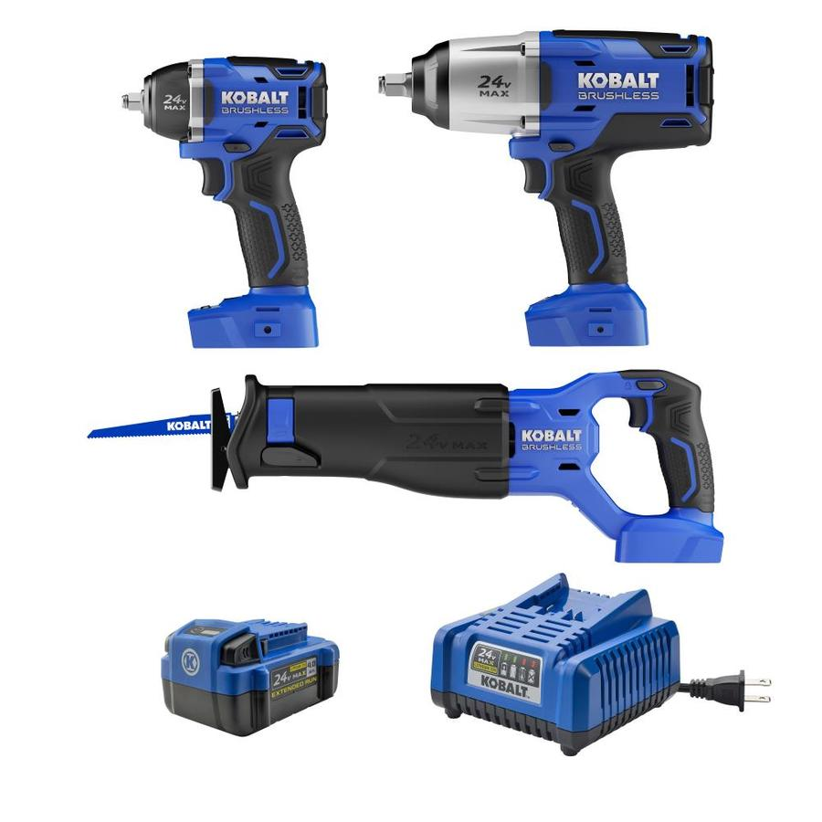 Kobalt 3-Tool 24-Volt Max Lithium Ion  Cordless Combo Kit with Soft Case