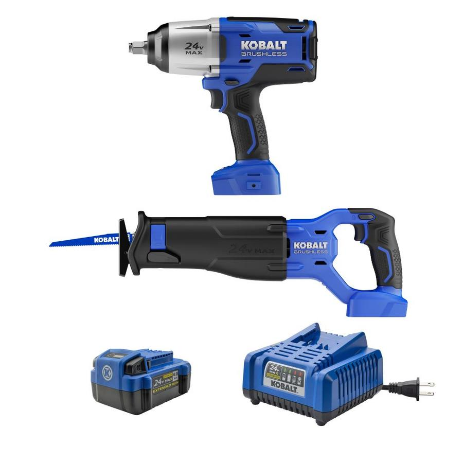 Kobalt 2-Tool 24-Volt Max Lithium Ion  Cordless Combo Kit with Soft Case