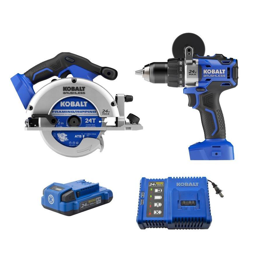 Kobalt 2-Tool 24-volt Max Lithium Ion Cordless Combo Kit