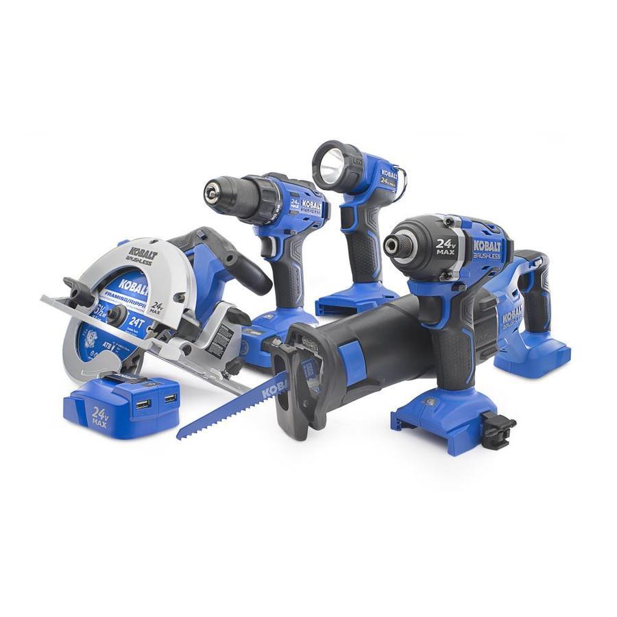 Kobalt 6-Tool 24-volt Max Lithium Ion  Cordless Combo Kit