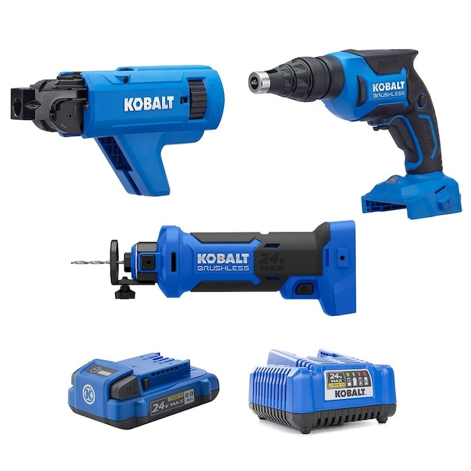 Kobalt 3-Tool 24-Volt Max Brushless Power Tool Combo Kit for $199