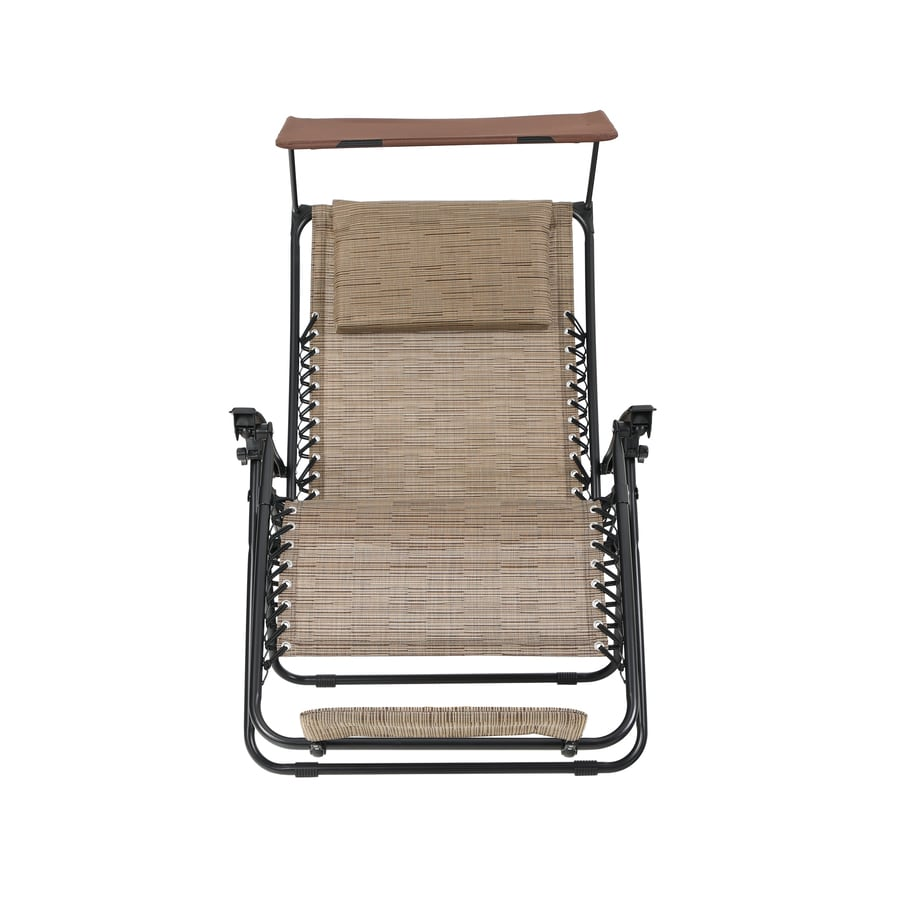 Shop Garden Treasures Brown Steel Folding Patio Zero Gravity Chair At