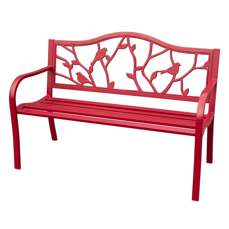 Shop Garden Treasures 23 In W X 49 5 In L Cast Iron Patio Bench At