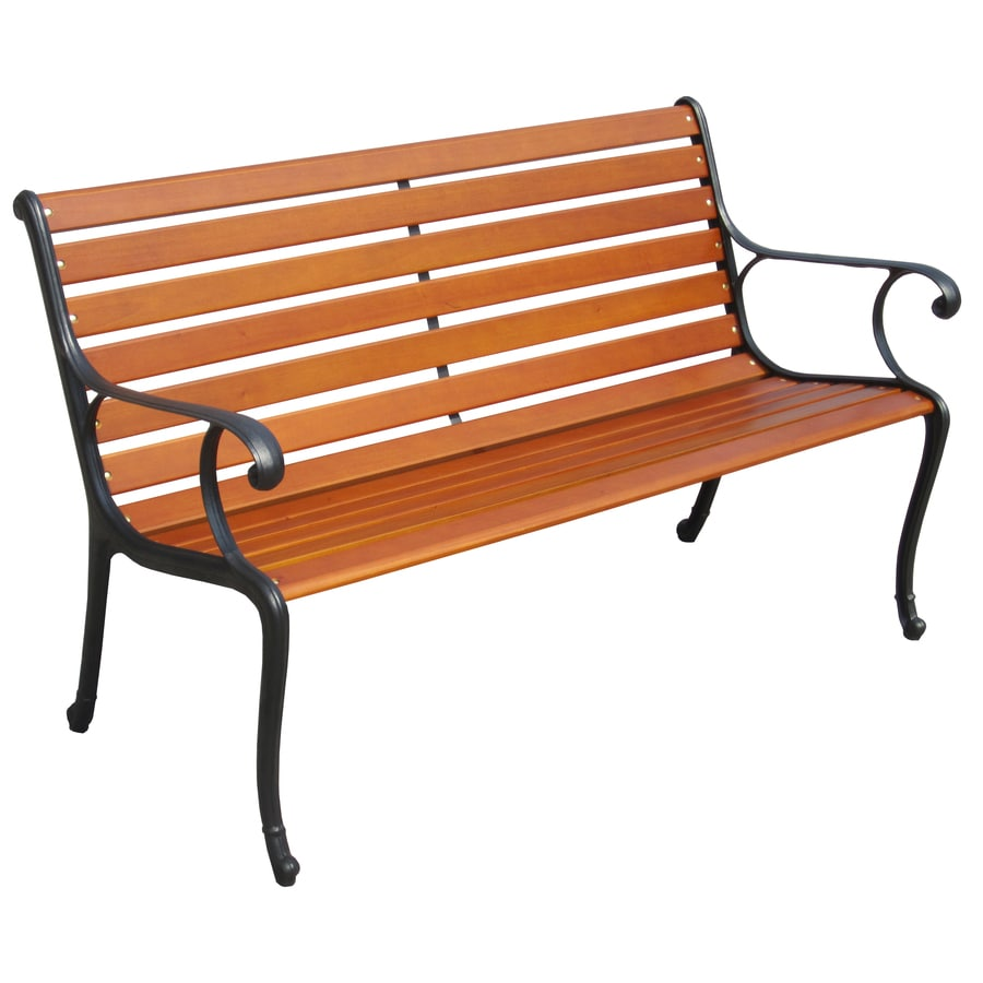 Shop garden treasures l steel finish designed for kids patio bench at Lowes garden bench