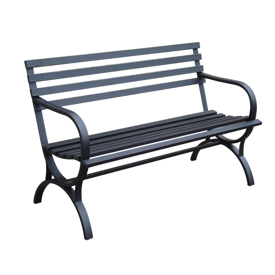 Shop Garden Treasures 48 5 In L Steel Finish Designed For Kids Patio Bench At
