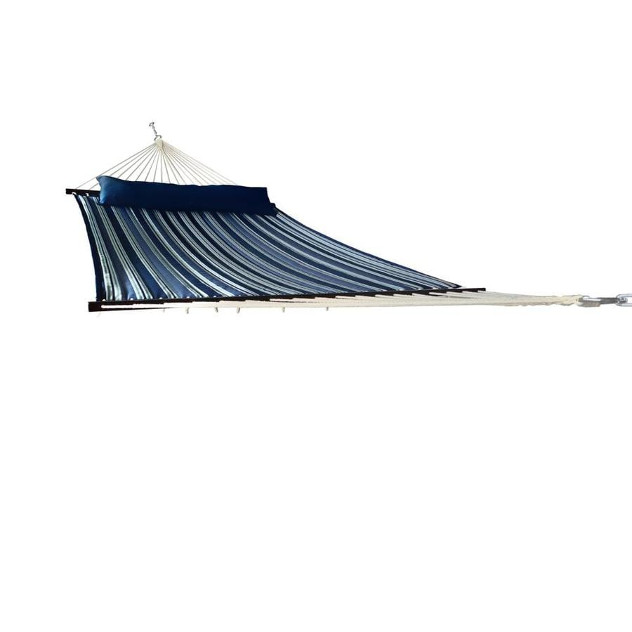 Allen Roth Admiral Navy Quilted Hammock At Lowes Com