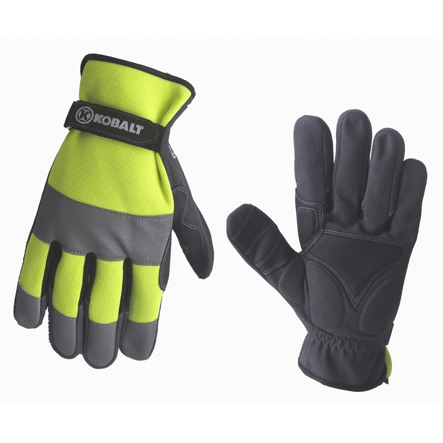 Leather work gloves lowes - Kobalt Large Men S Synthetic Leather Work Gloves