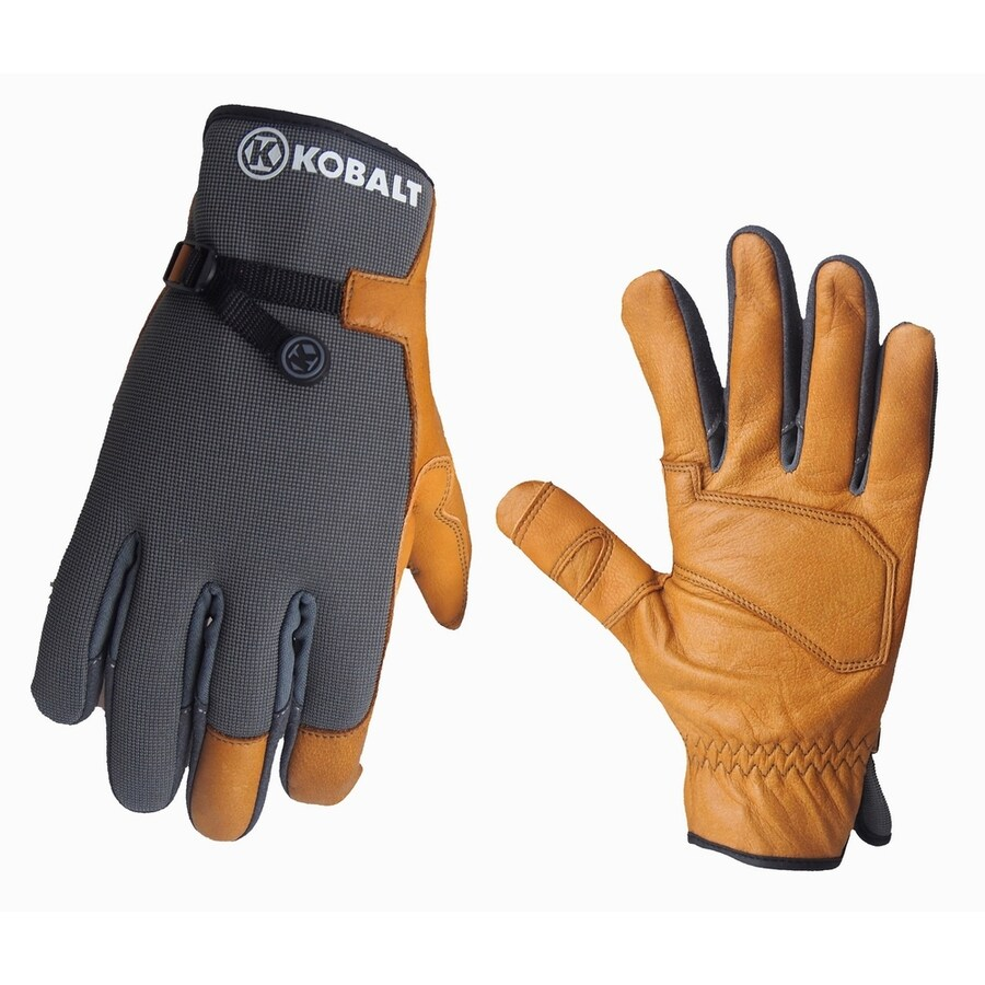 Leather work gloves sale - Kobalt Men S Leather Palm Work Gloves