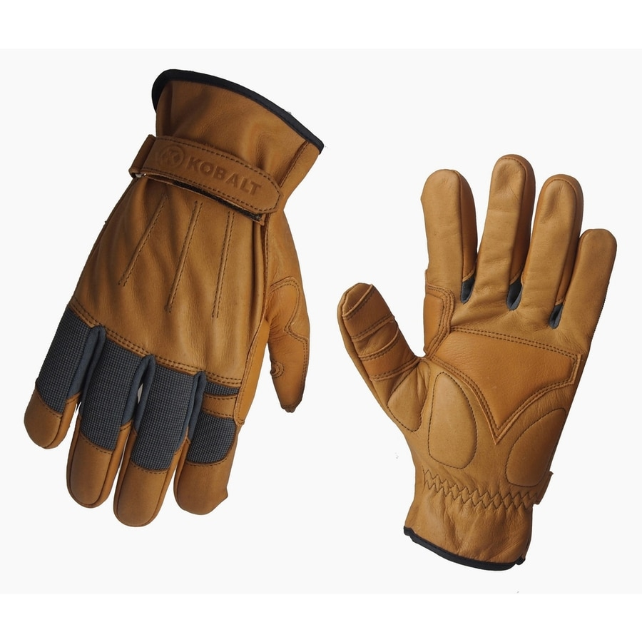 Leather work gloves sale - Kobalt Medium Men S Leather Palm Work Gloves
