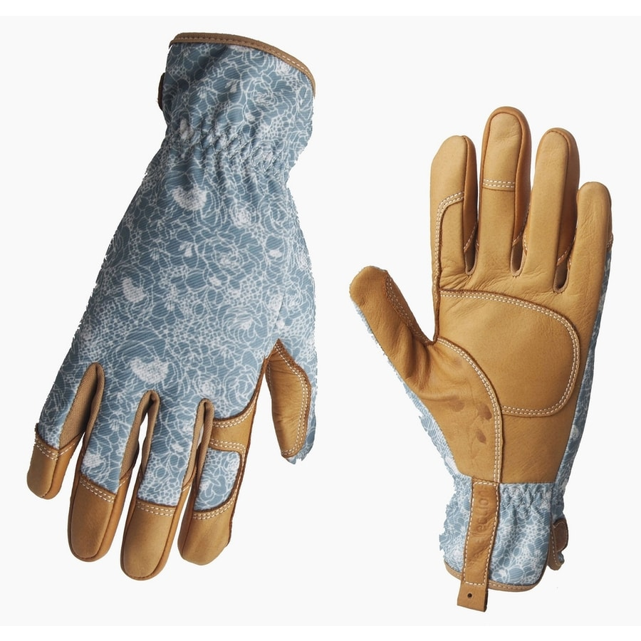 Shop style selections women 39 s large beige turquoise for Gardening gloves ladies