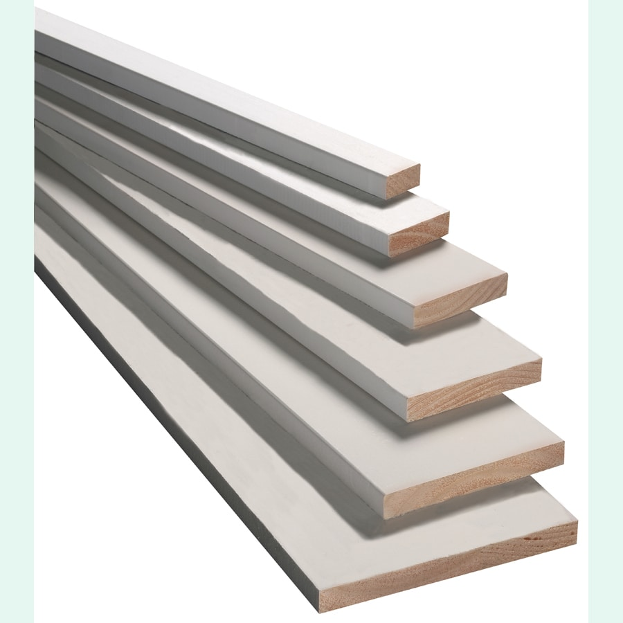 Armour Wood (Common: 1-in x 5-in x 12-ft; Actual: 0.75-in x 4.5-in x 12-ft) Finger Joint Primed Radiata Pine Board