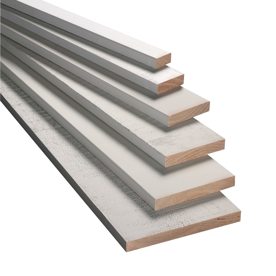 Armour Wood (Common: 1-in x 8-in x 8-ft; Actual: 0.75-in x 7.25-in x 8-ft) Finger-Joint Primed Radiata Pine Board
