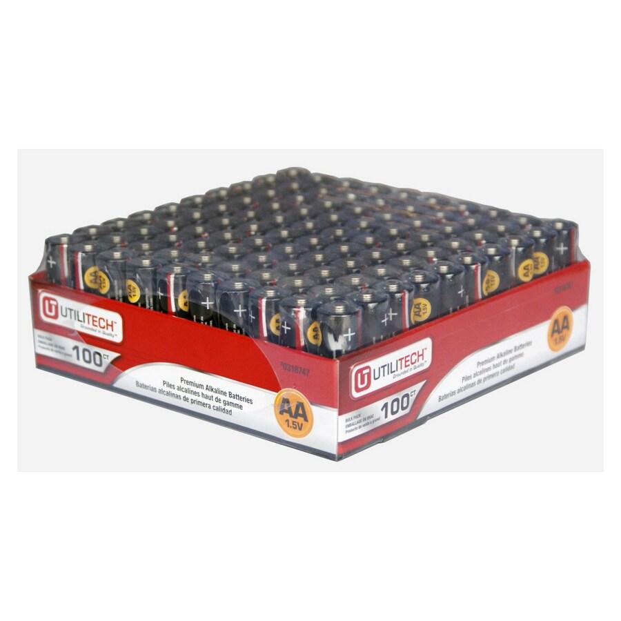 Utilitech 100-Pack AA Alkaline Batteries