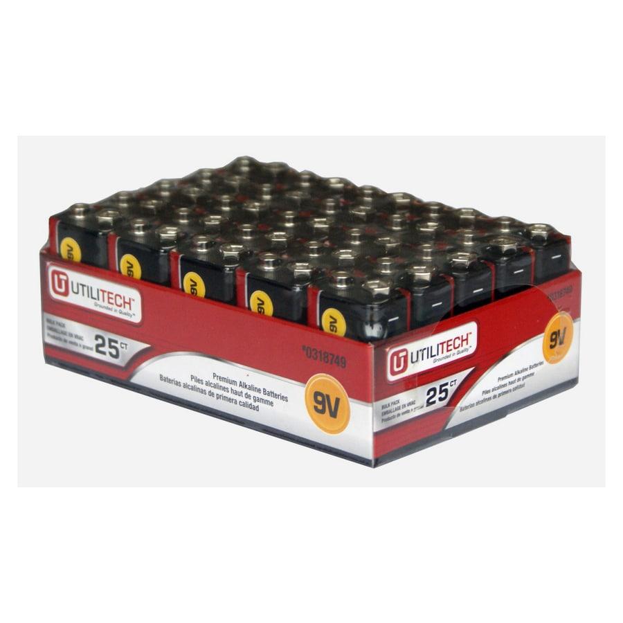 Utilitech 25-Pack Pp3 (9V) Alkaline Batteries