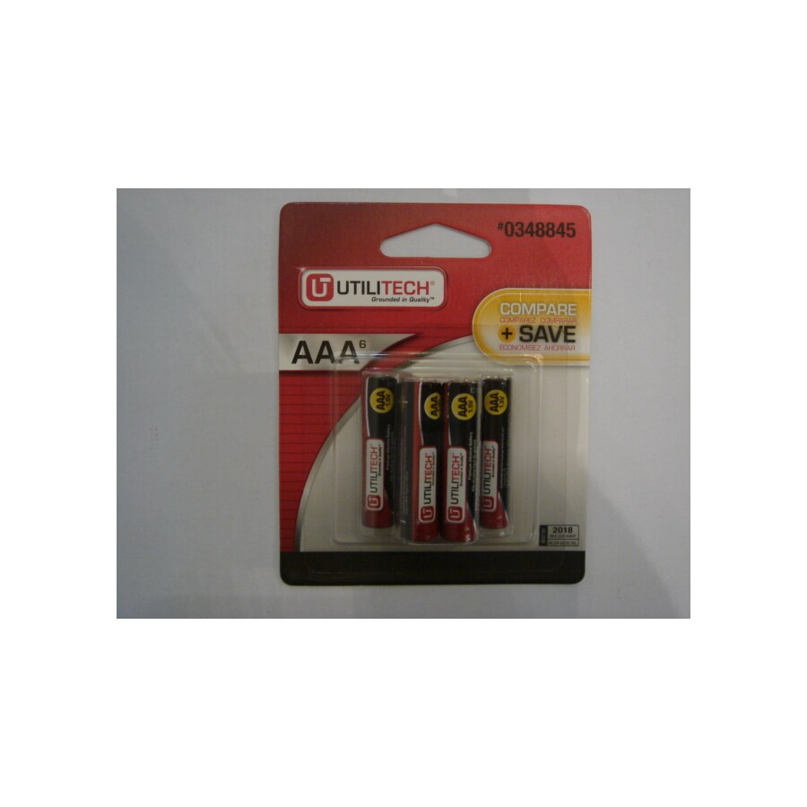 Utilitech 6-Pack AAA Alkaline Batteries