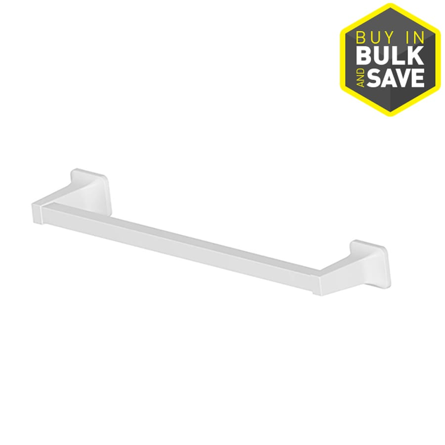 Project Source Seton White Single Towel Bar (Common: 18-In; Actual: 20.28-in)