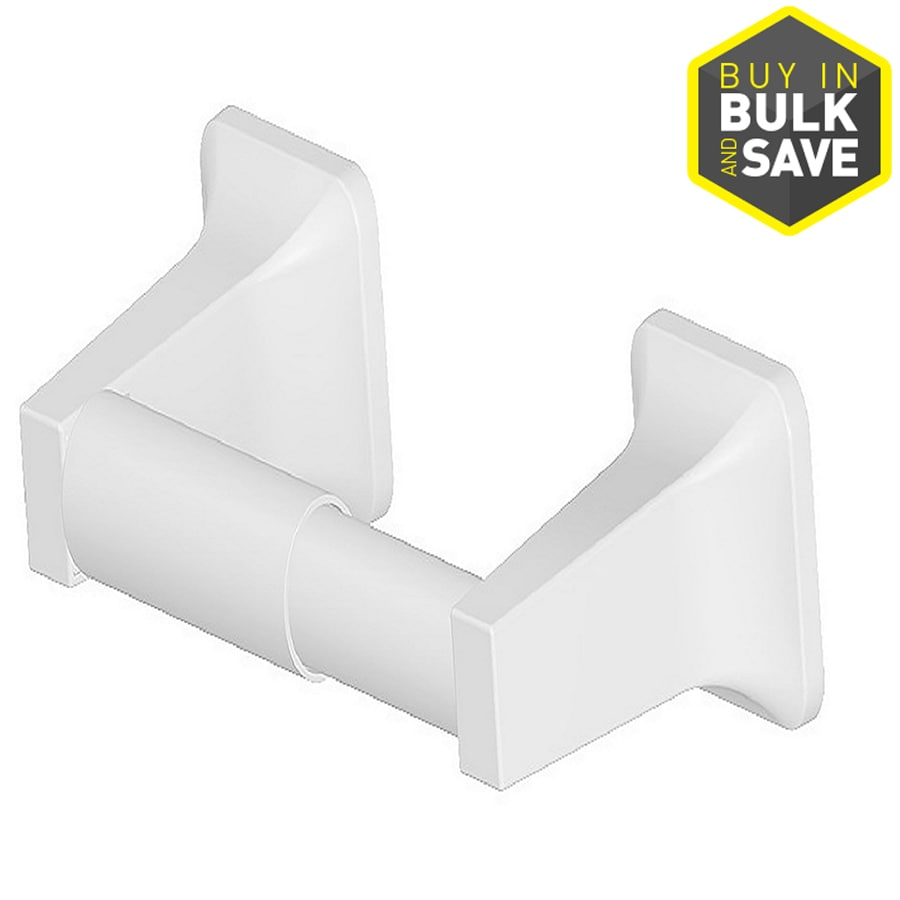 Project Source Seton White Surface Mount Spring-Loaded Toilet Paper Holder