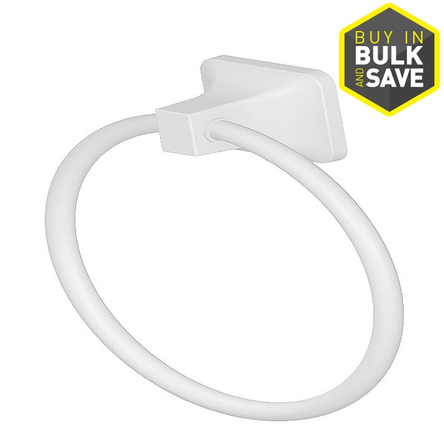 Project Source Seton White Wall Mount Towel Ring