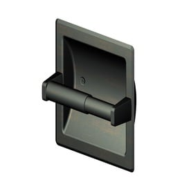 Project Source Seton Recessed Spring Loaded Toilet Paper Holder
