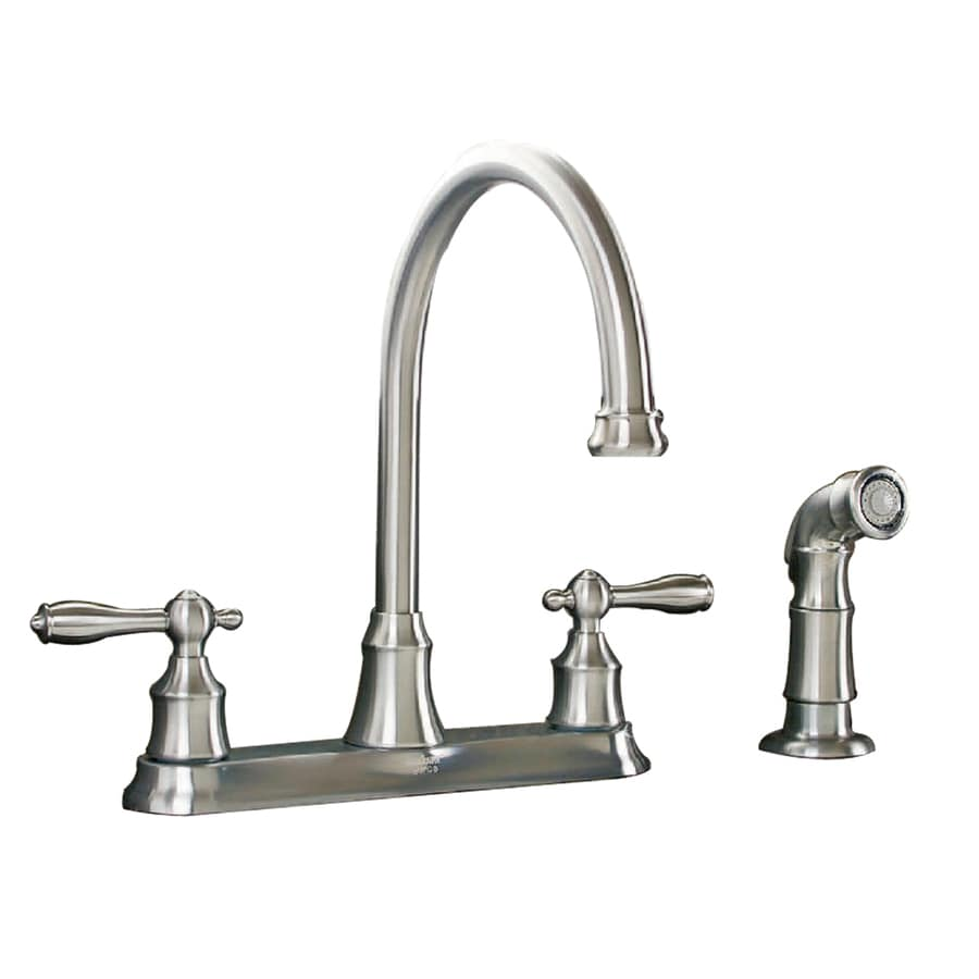 shop aquasource stainless steel pvd 2 handle high arc 87854