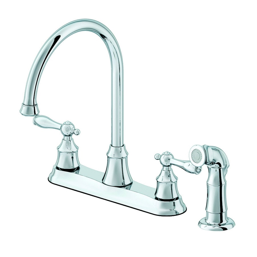 Aquasource Kitchen Faucet: AquaSource Chrome 2-Handle High-Arc Kitchen Faucet At