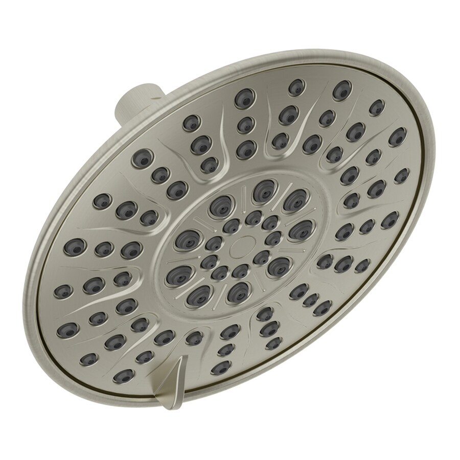 Jacuzzi Primo 8-in 2.5-GPM (9.5-LPM) Brushed Nickel 2-Spray Rain Showerhead