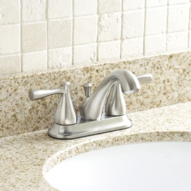 Aquasource Kirkmont Brushed Nickel 2 Handle 4 In Centerset