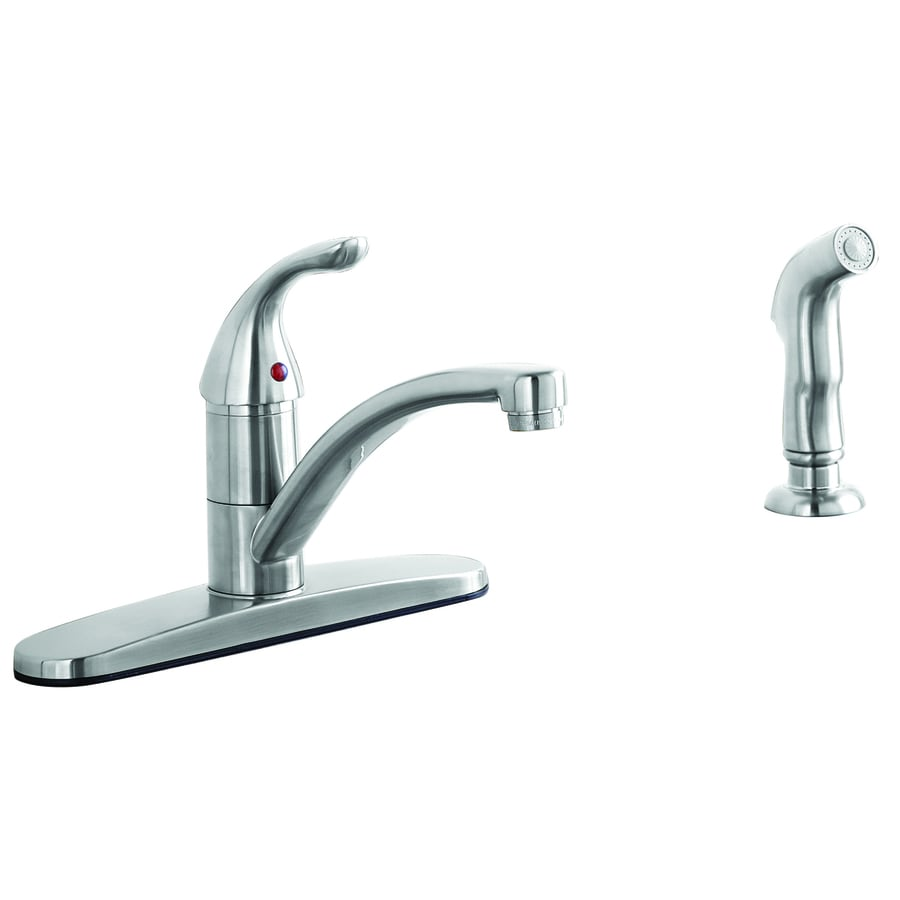 Shop Aquasource Stainless Steel Pvd 1 Handle Low Arc Kitchen Faucet At